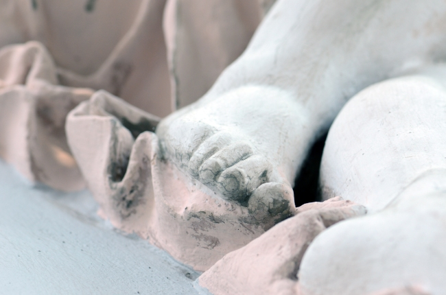 Foot of a Gypsum Statue