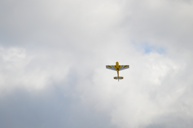 Plane in the Cloudy Sky