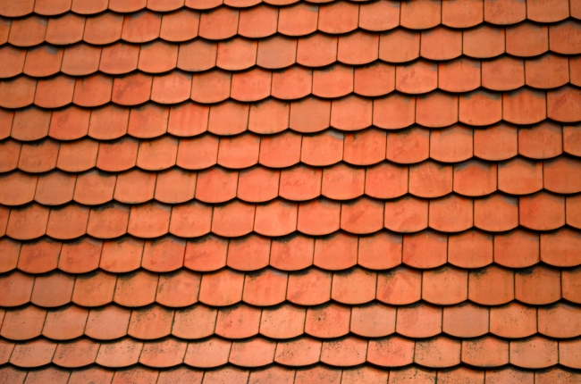 Red Tile Roof Texture