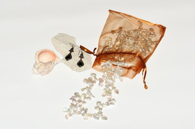 Sea Themed Jewellery Flat Lay