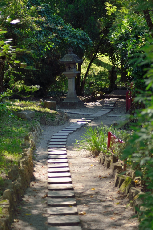 Stone Alley in Japanese Garden