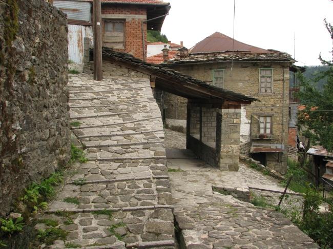 Street in Metsovo near a Spring