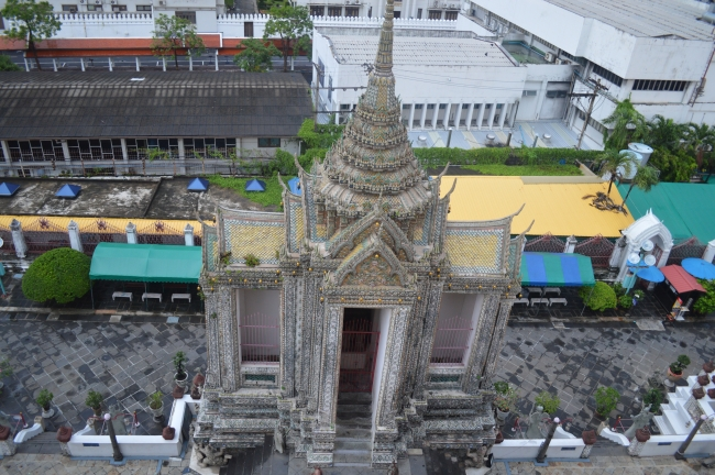 Temple in Thailand - Aerial View