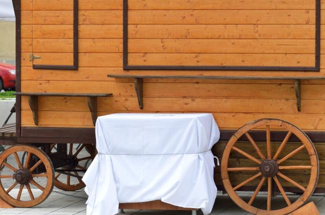 Vintage Wooden Trade Cart