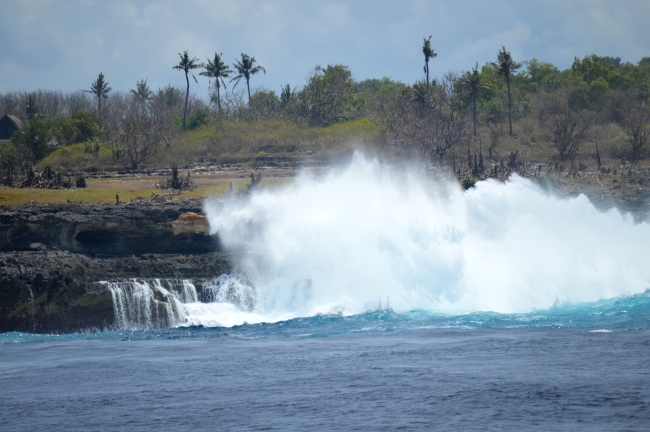 Waves Reaching Island Shore
