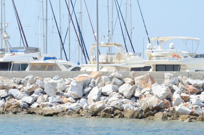 Yachts in the Harbor near the Pontoon Bridge